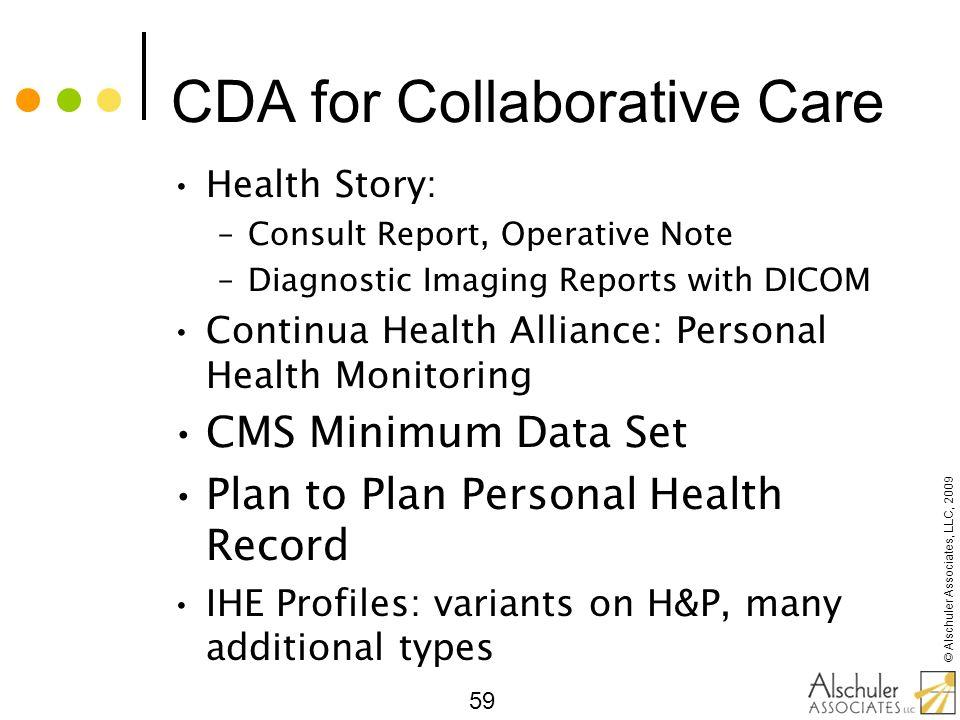 CDA for Collaborative Care