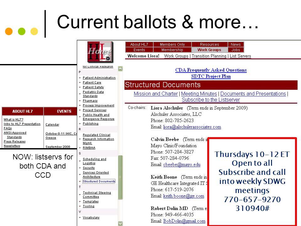 Current ballots & more…