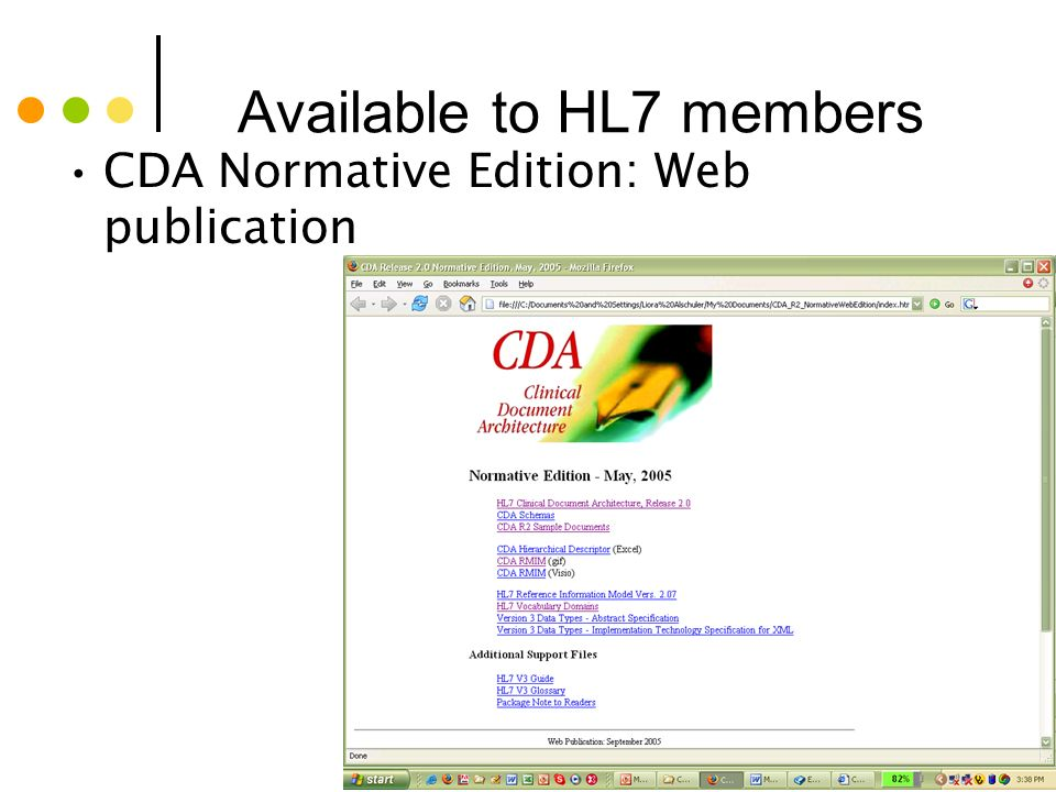 Available to HL7 members