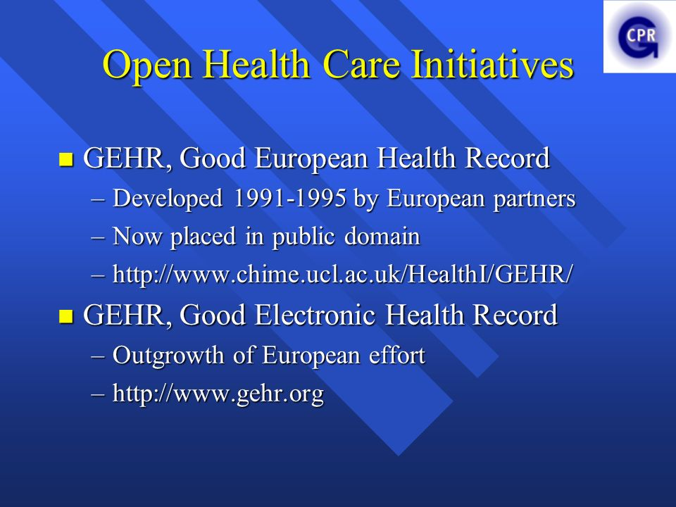 Open Health Care Initiatives