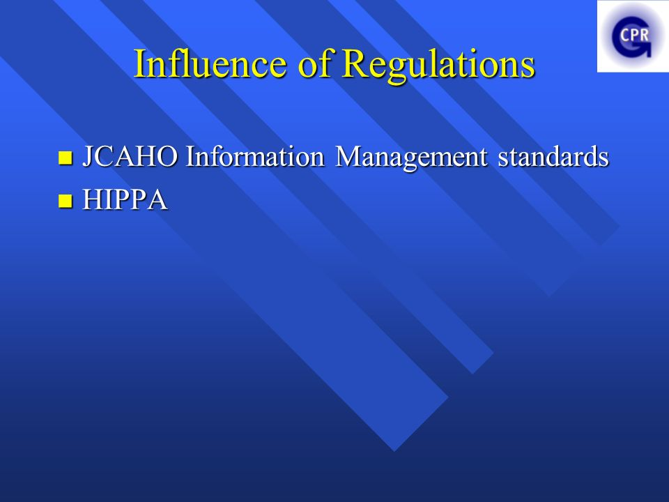 Influence of Regulations