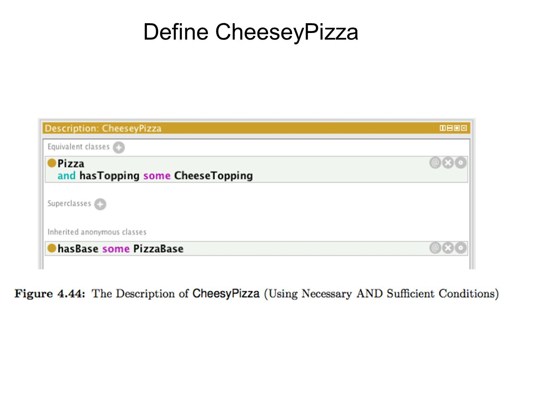 Define CheeseyPizza