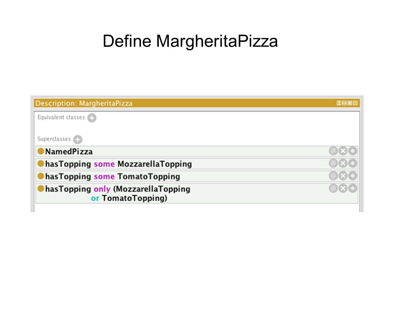 Define MargheritaPizza