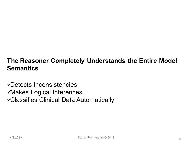 The Reasoner Completely Understands the Entire Model Semantics