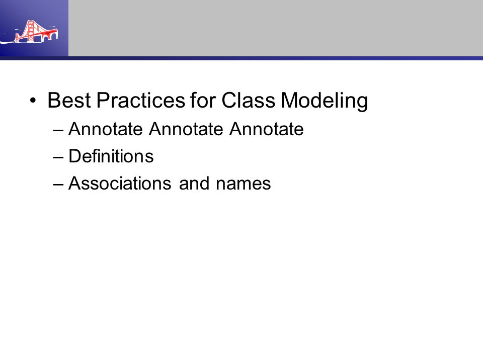 Best Practices for Class Modeling