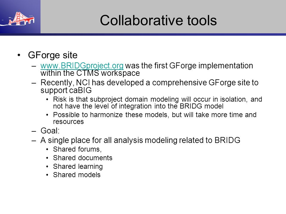 Collaborative tools GForge site