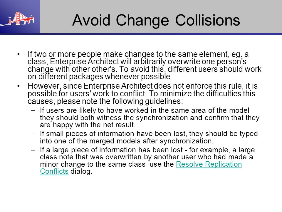Avoid Change Collisions