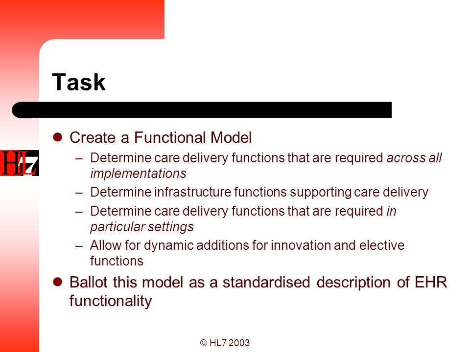 Task Create a Functional Model