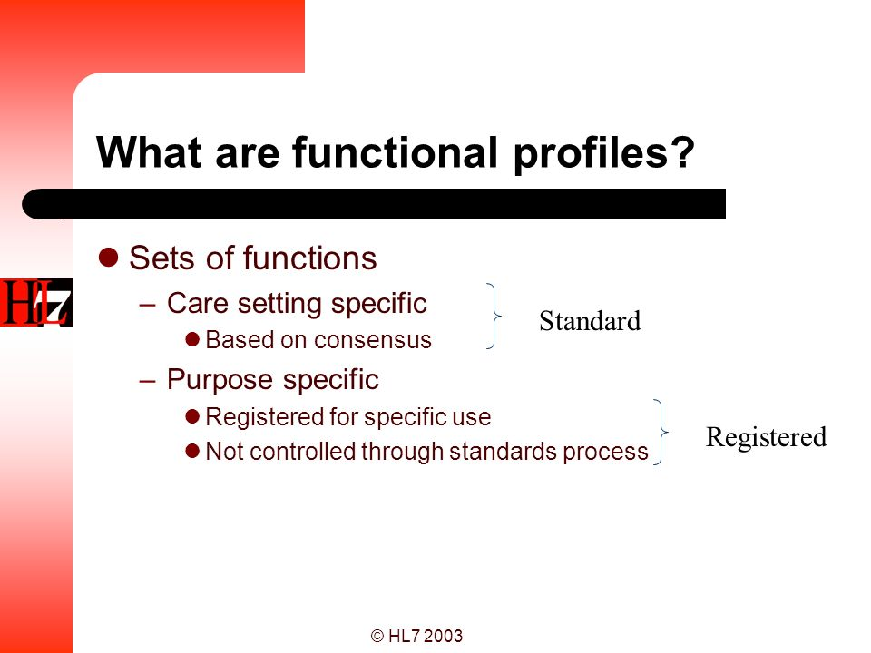 What are functional profiles