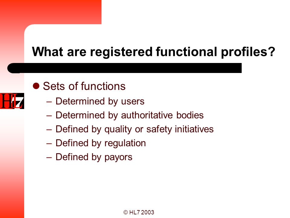 What are registered functional profiles