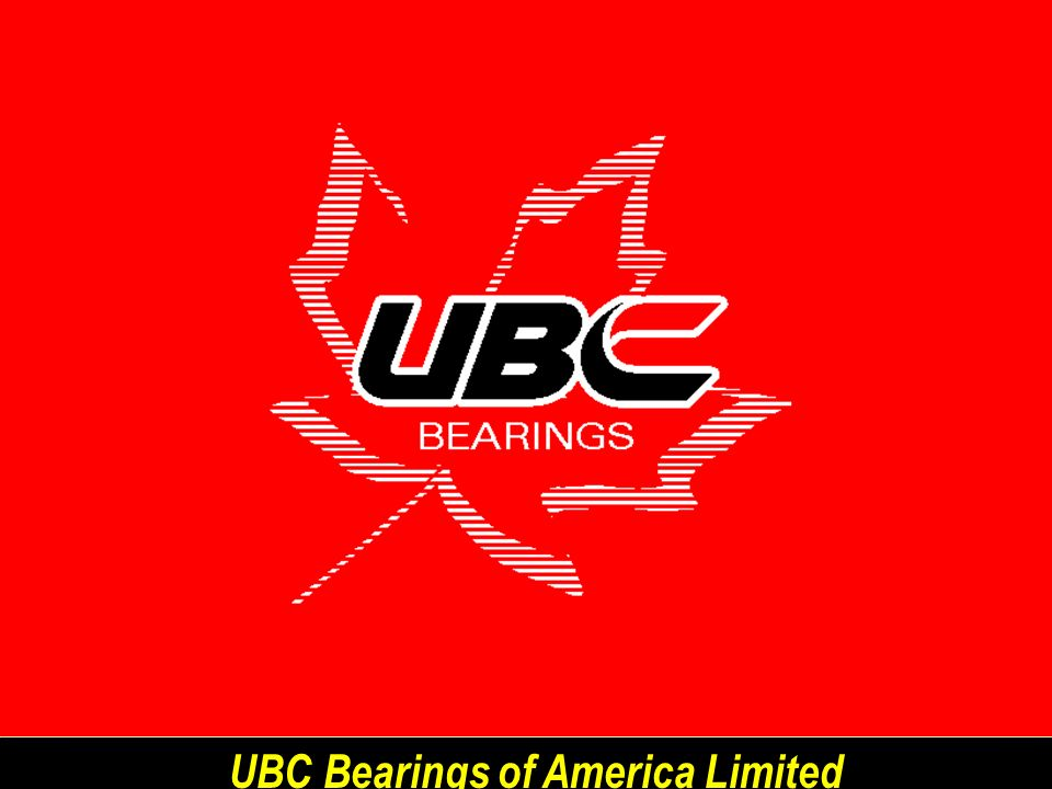 UBC Bearings of America Limited