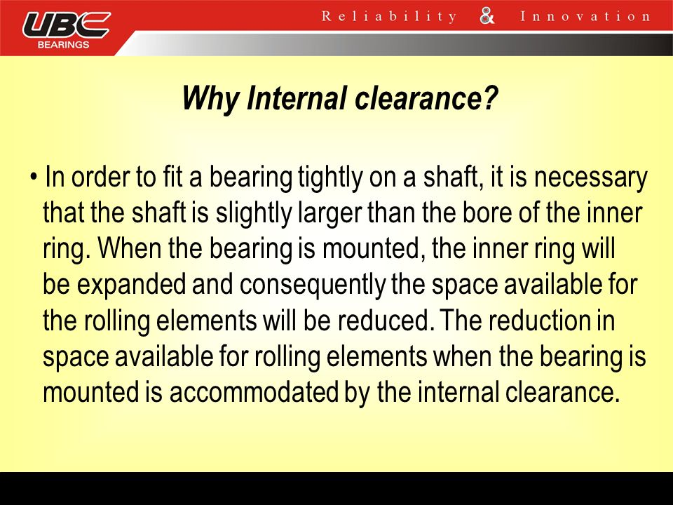 Why Internal clearance
