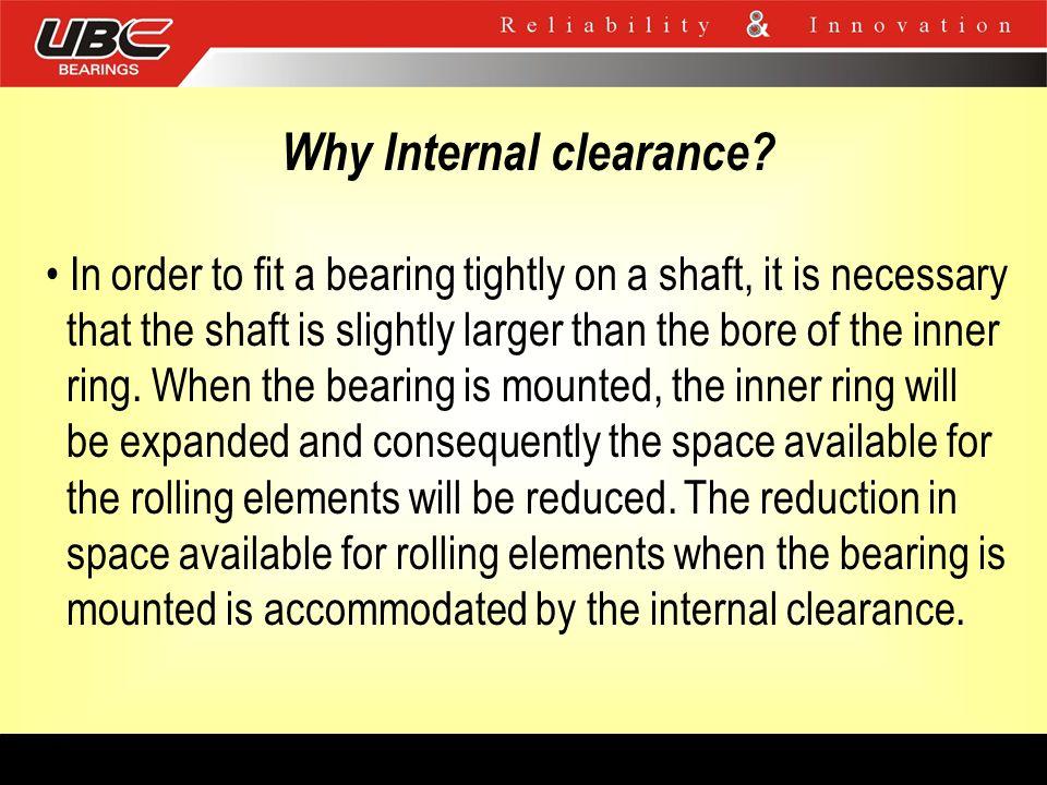 Why Internal clearance