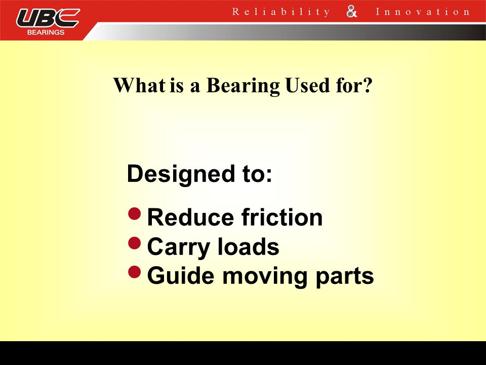 What is a Bearing Used for