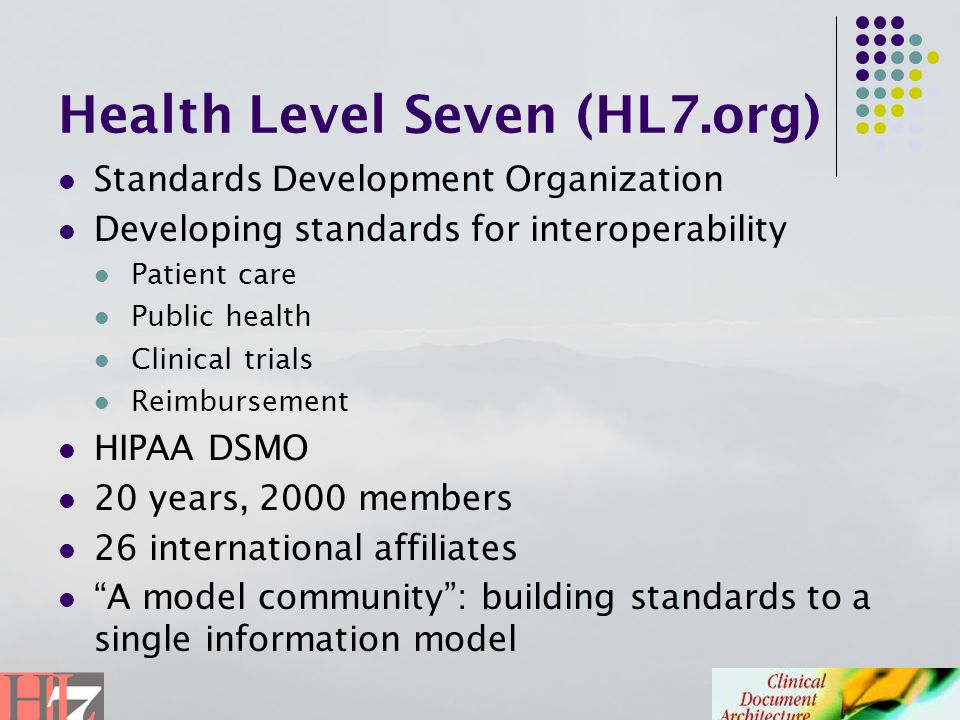Health Level Seven (HL7.org)