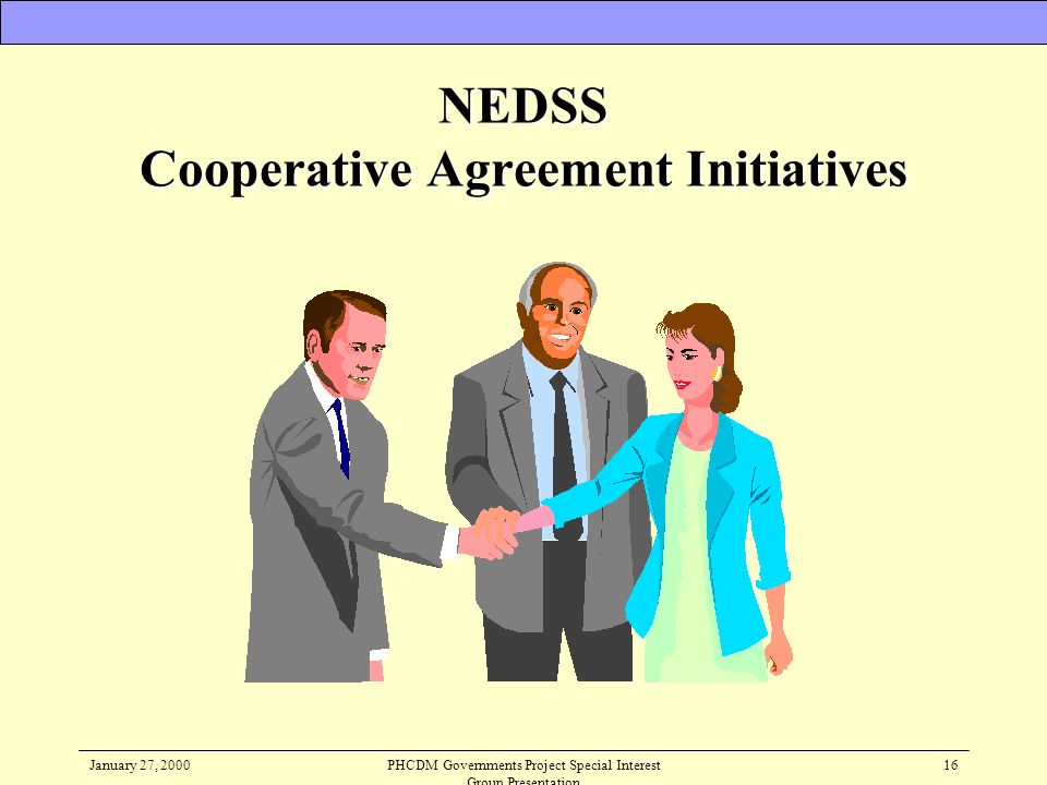 NEDSS Cooperative Agreement Initiatives