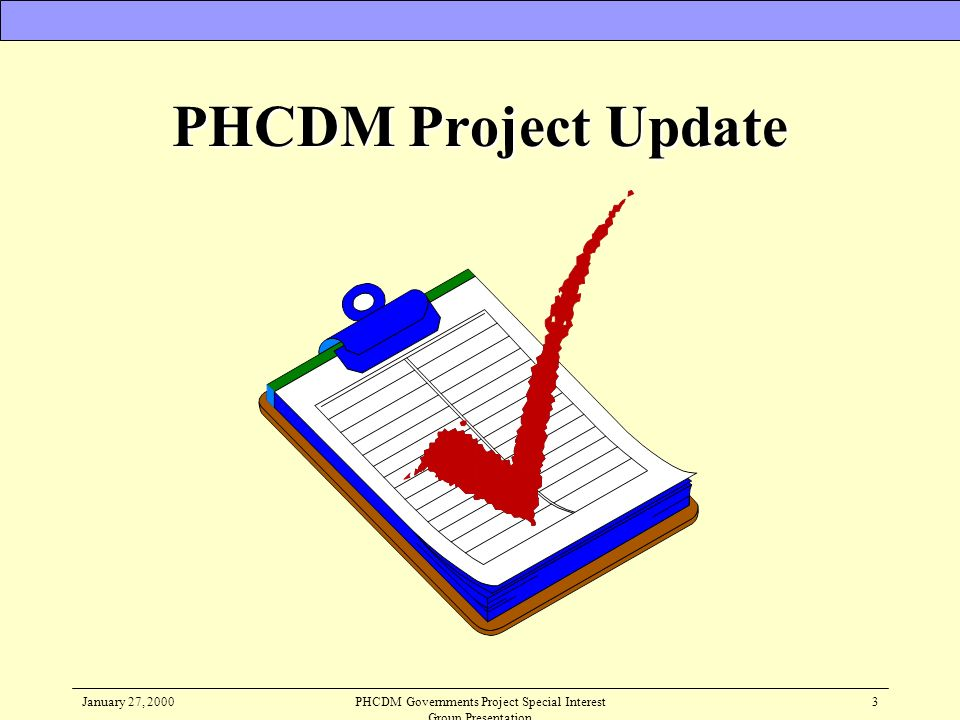 PHCDM Governments Project Special Interest Group Presentation