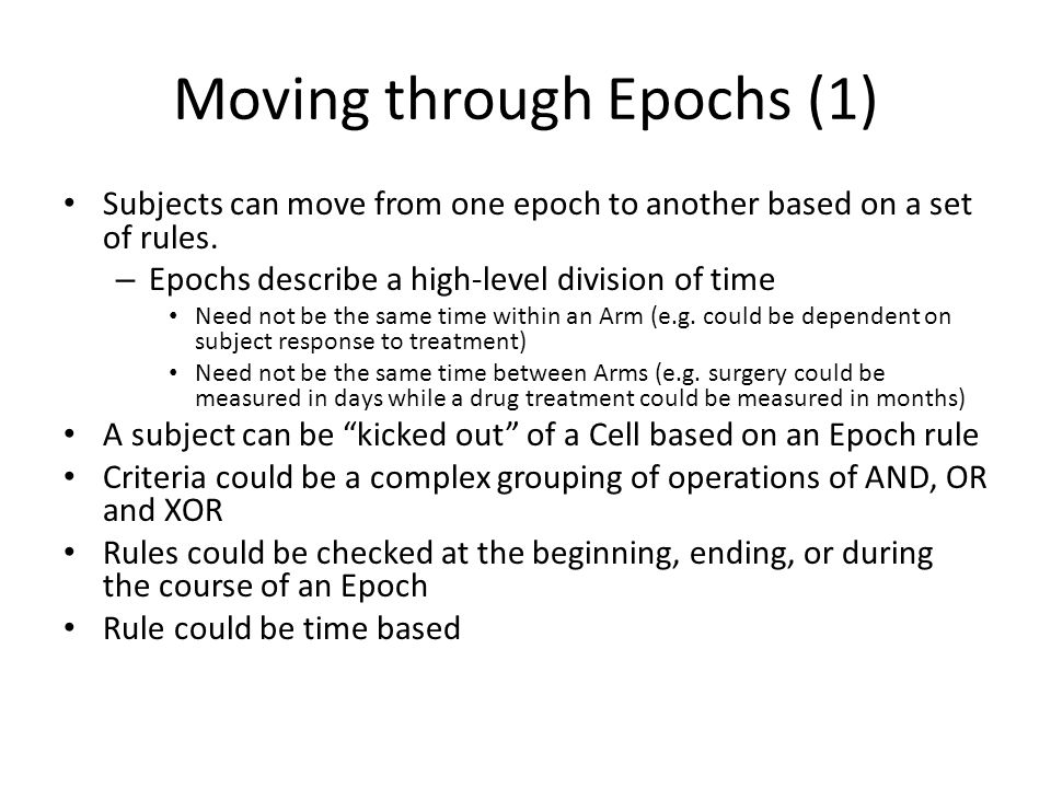 Moving through Epochs (1)
