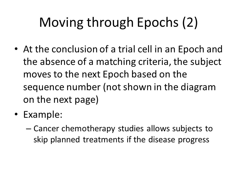 Moving through Epochs (2)