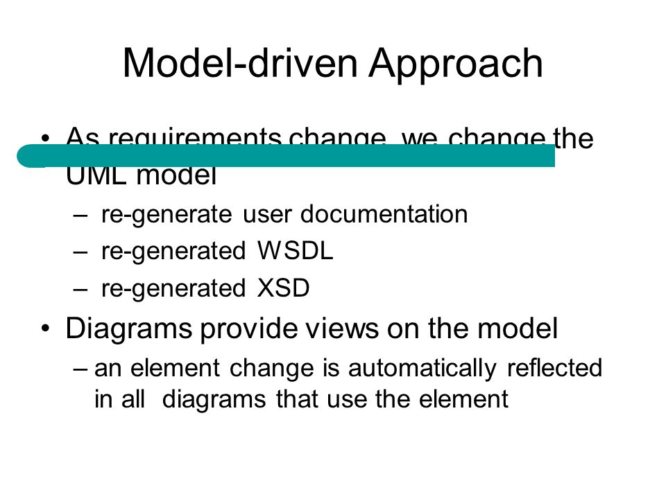 Model-driven Approach