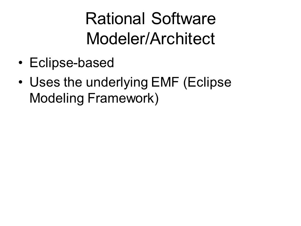 Rational Software Modeler/Architect