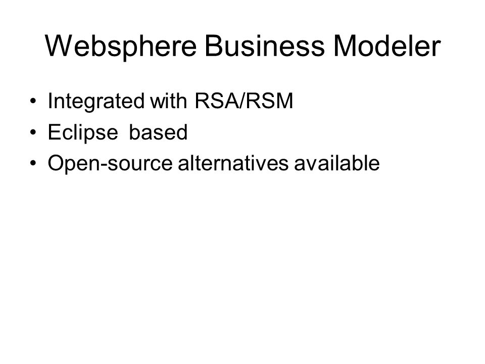 Websphere Business Modeler