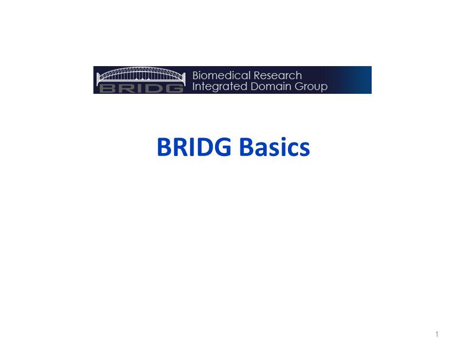 BRIDG Basics