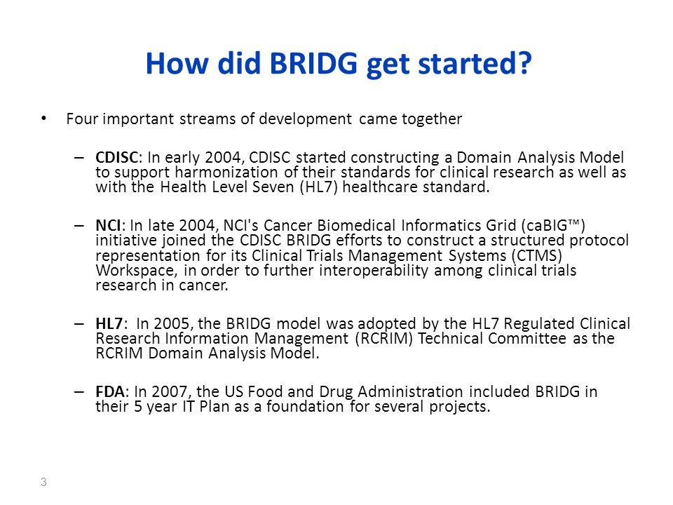 How did BRIDG get started