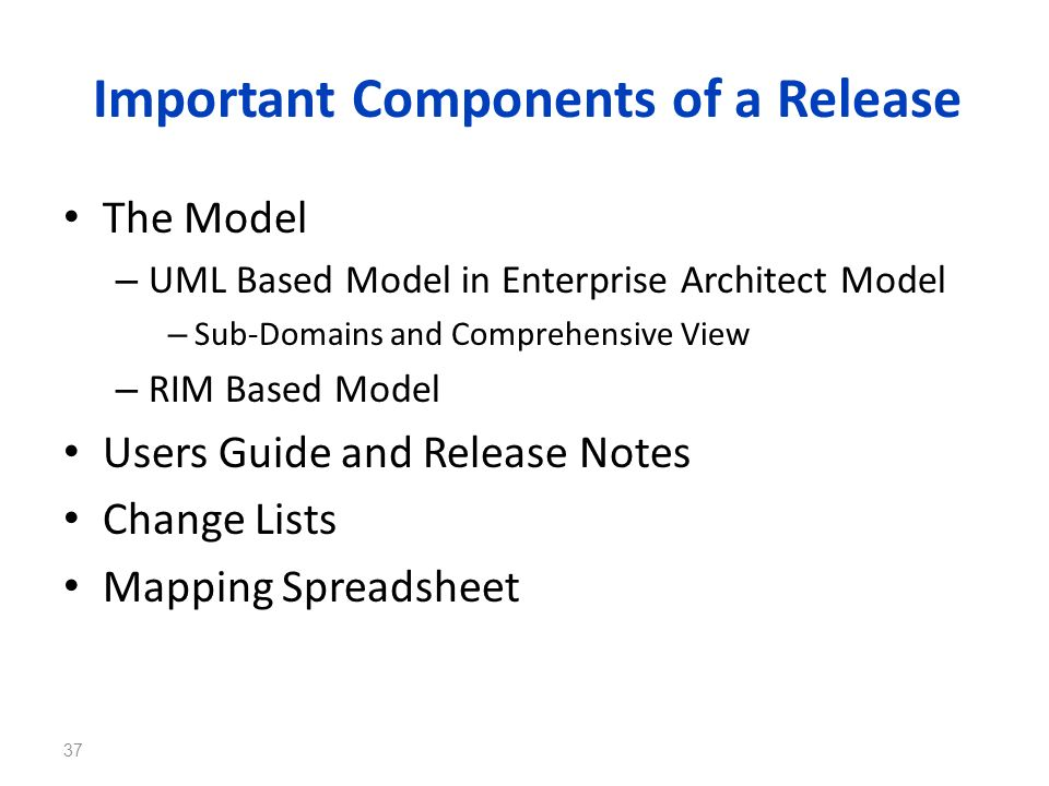 Important Components of a Release