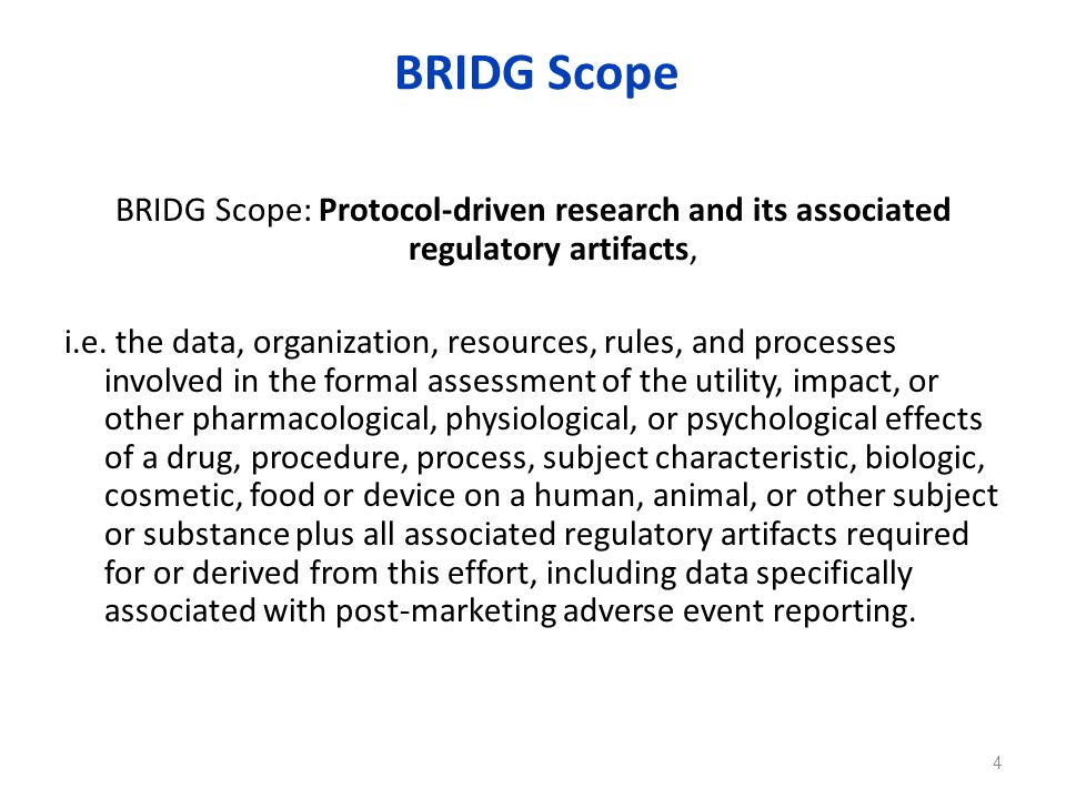 BRIDG Scope