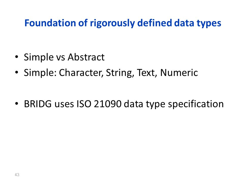 Foundation of rigorously defined data types