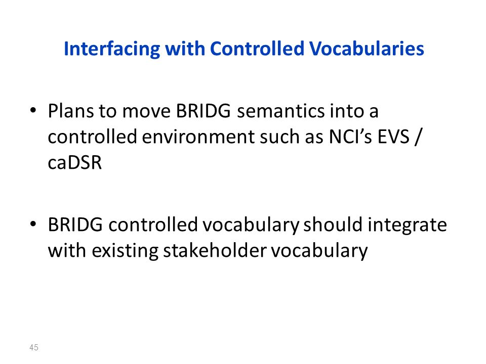Interfacing with Controlled Vocabularies