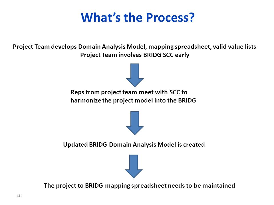 Project Team involves BRIDG SCC early
