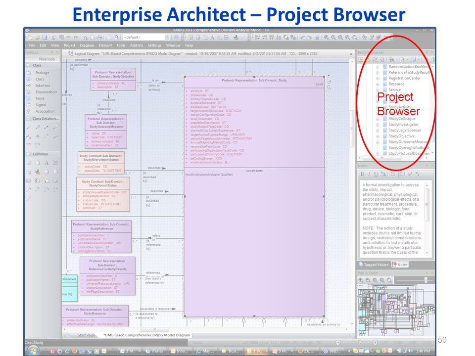 Enterprise Architect – Project Browser