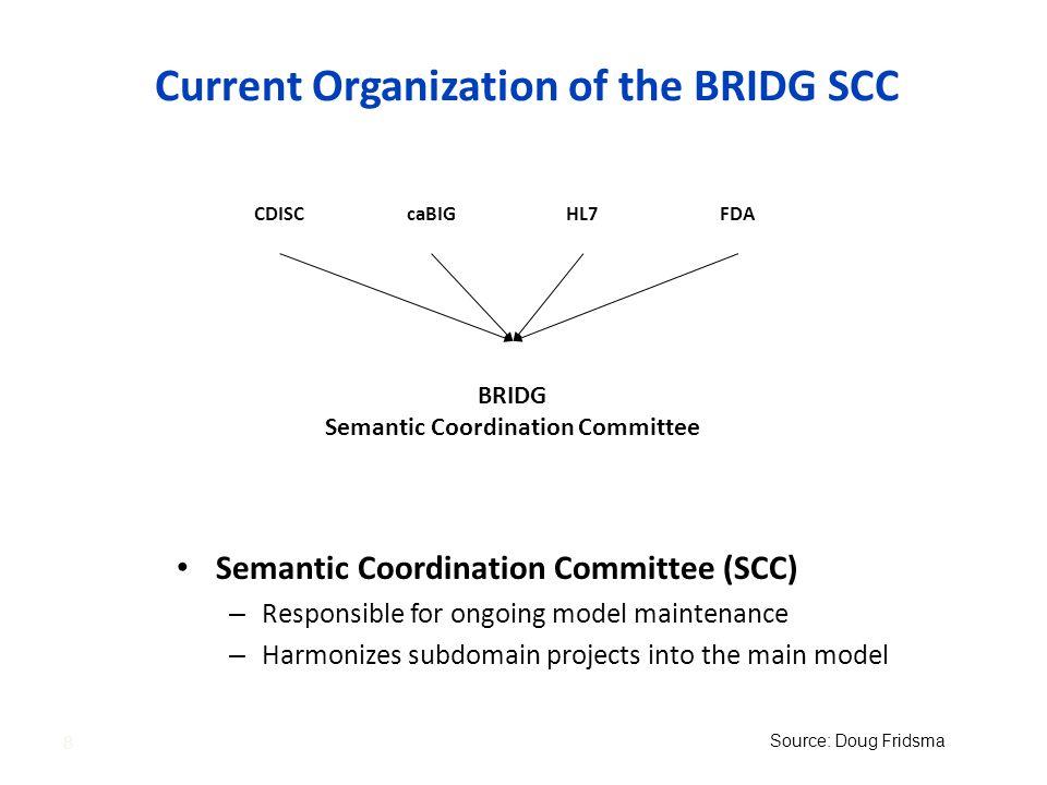 Current Organization of the BRIDG SCC