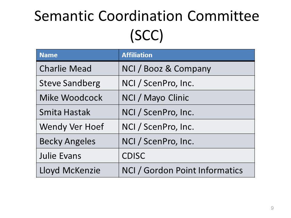 Semantic Coordination Committee (SCC)