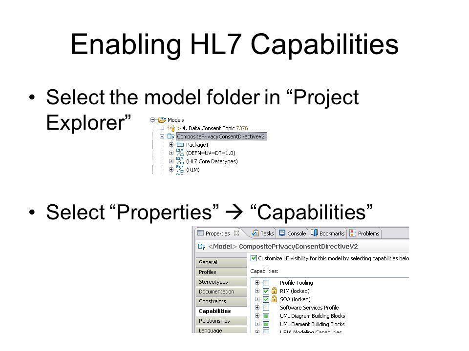 Enabling HL7 Capabilities