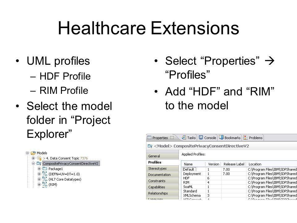 Healthcare Extensions