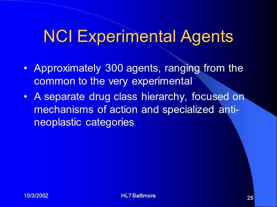 NCI Experimental Agents