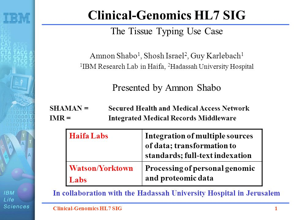 Clinical-Genomics HL7 SIG