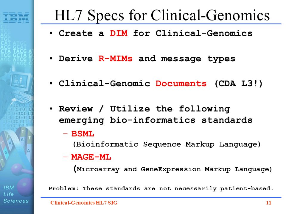 HL7 Specs for Clinical-Genomics