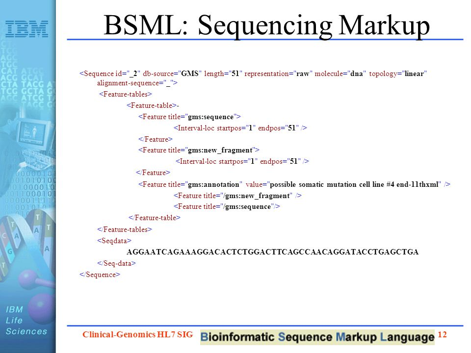 BSML: Sequencing Markup