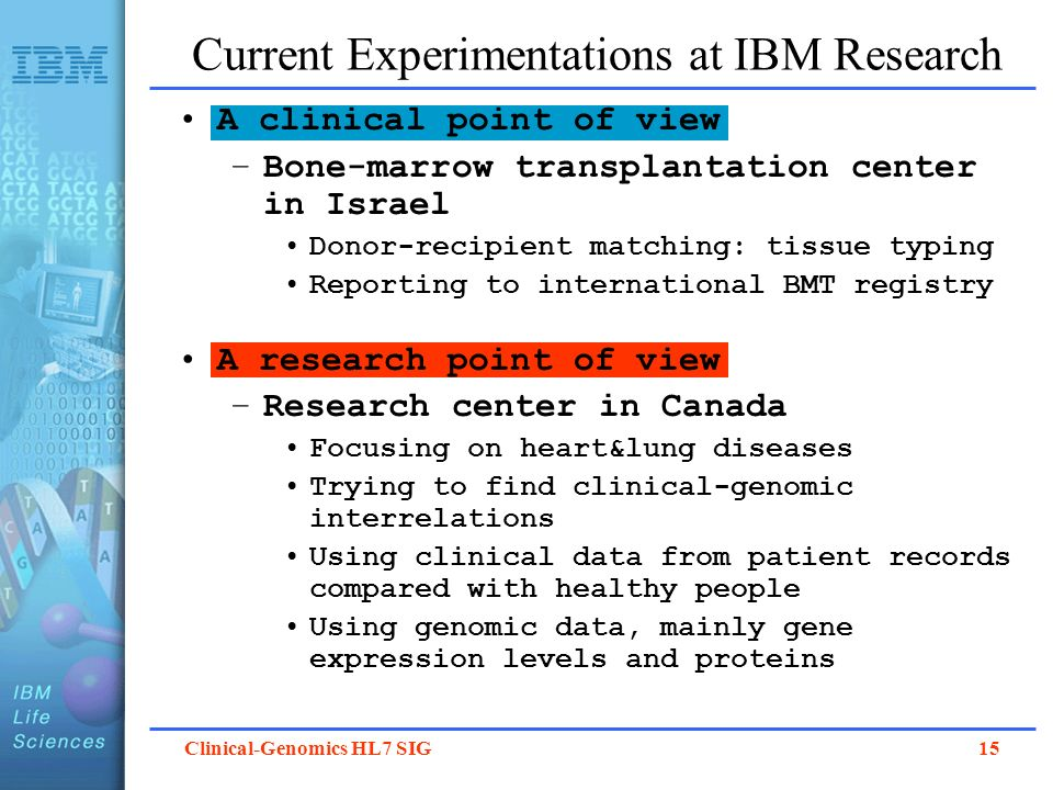 Current Experimentations at IBM Research