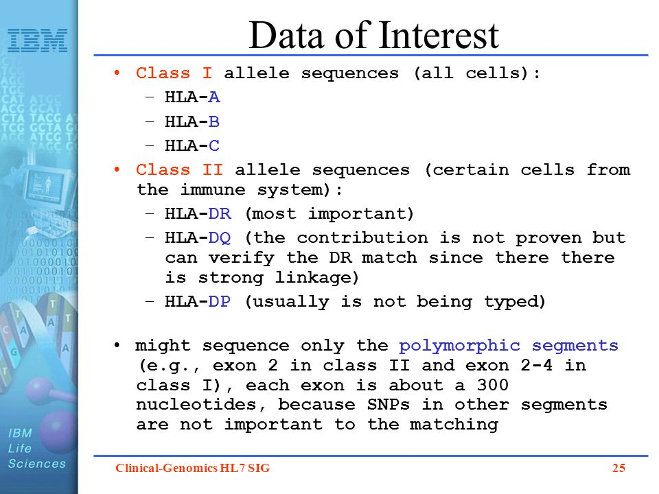 Data of Interest Class I allele sequences (all cells): HLA-A HLA-B