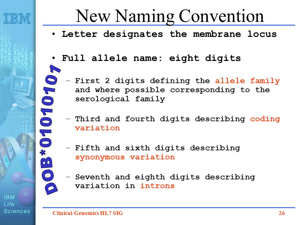 New Naming Convention DOB*01010101