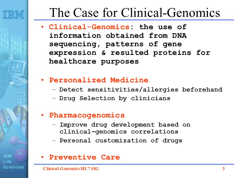 The Case for Clinical-Genomics