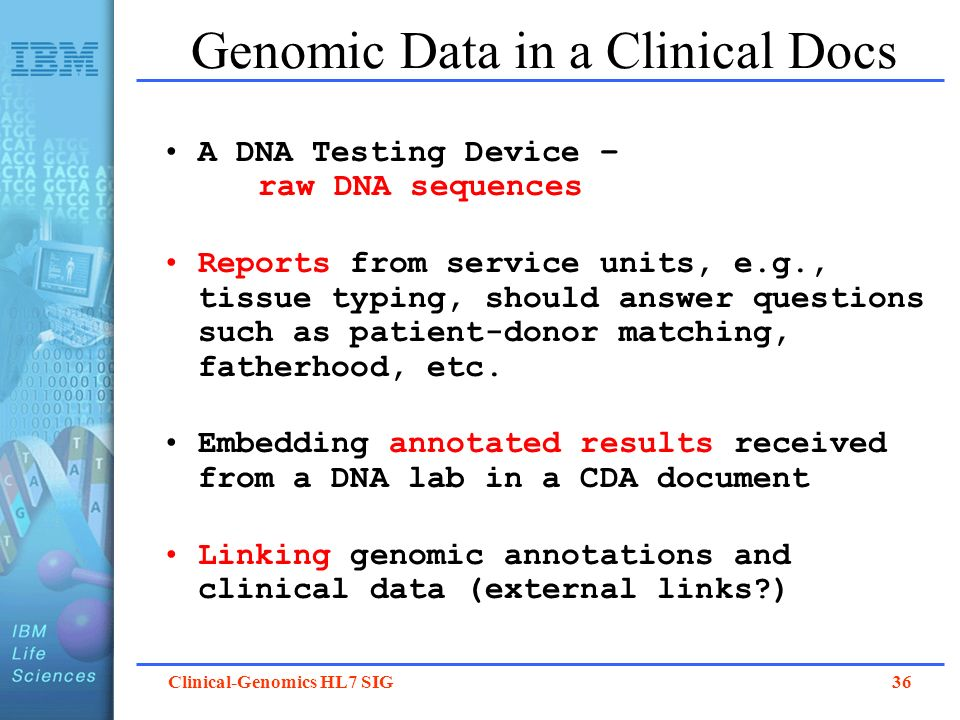 Genomic Data in a Clinical Docs