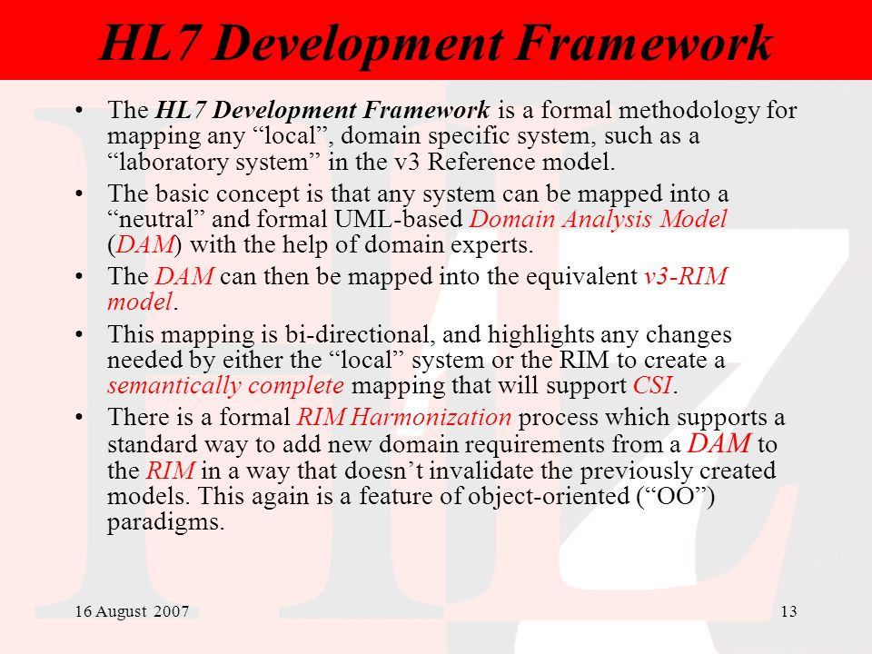 HL7 Development Framework