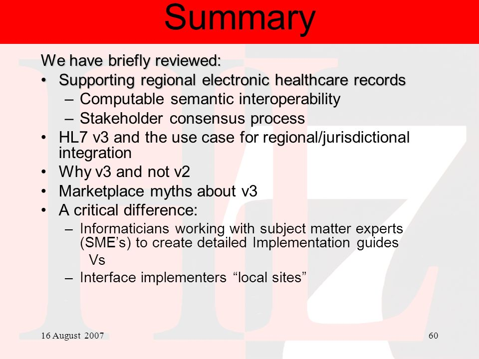 Summary We have briefly reviewed: