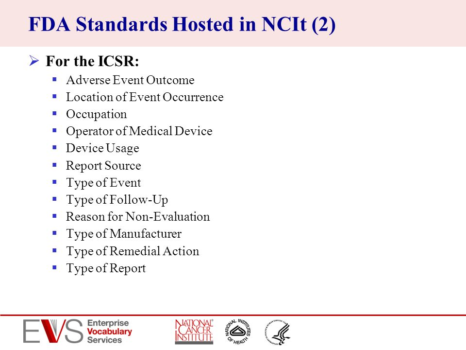 FDA Standards Hosted in NCIt (2)